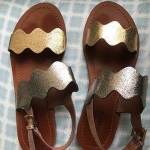 Brown sandals *NEVER WORN*